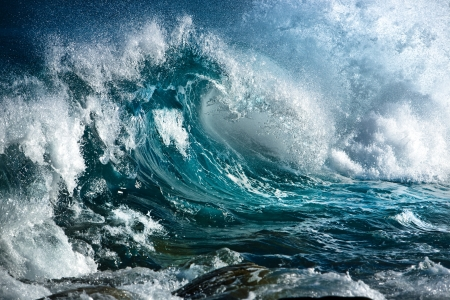 storm background: Ocean wave