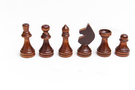 Chess pieces isolated on a white
