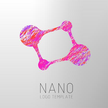 Nanotechnology creative design. template. Creative design concept. Biotechnology symbol