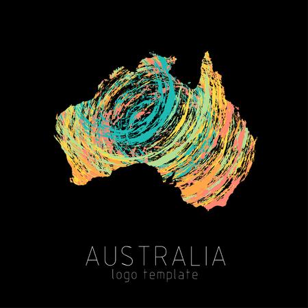 Australia creative designed silhouette map