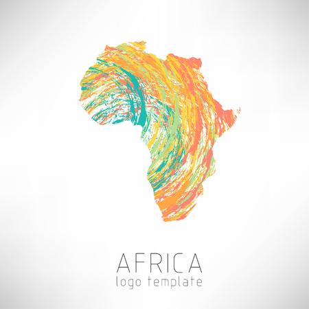Mapa de silueta creativa de África diseñado. Silueta continente de África