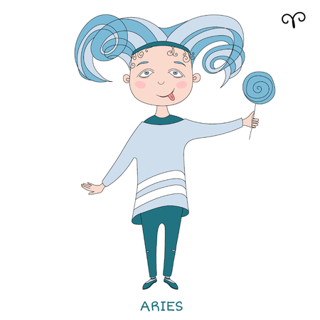 Funny Horoscope For Girls Cute Girl In The Form Of Zodiac Sign