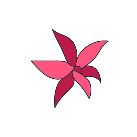 Graphic illustration of a flower. Çizim