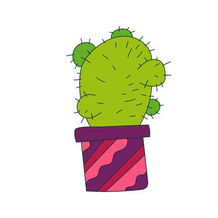 Graphic illustration of cactus.