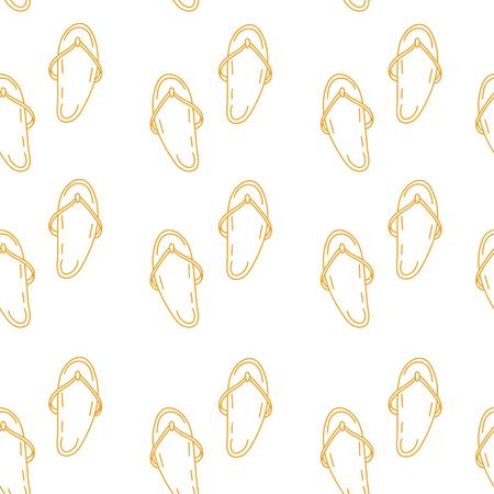 summer vector seamless pattern with flip flops. texture Illustration