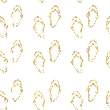 summer vector seamless pattern with flip flops. texture Çizim