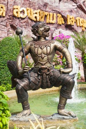 folk tales: Mucha Nu Statue at Siam Park City