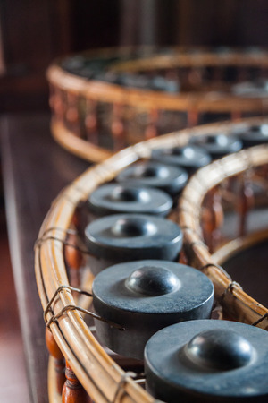 thai musical instrument: Gong , Thai traditional musical instrument Stock Photo