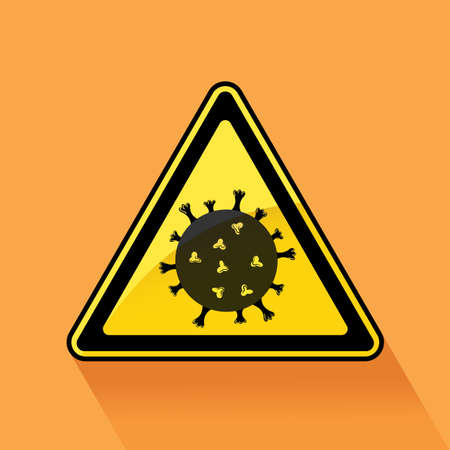 Lockdown Pandemic sign. Stop to Coronavirus outbreak covid-19 in Wuhan China. Travel in Europe warning and quarantine. Protection icon. Vector illustration of lock down sign. Illustration