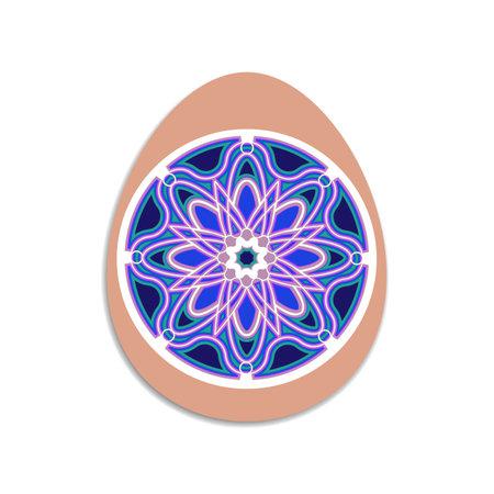 3d Easter Egg Layered. Easter ornament. Mandala layered design. Vector multilayer illustration. Illustration