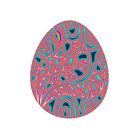 Easter Egg Layered. 3d Easter ornament. Mandala layered design. Vector multilayer illustration.