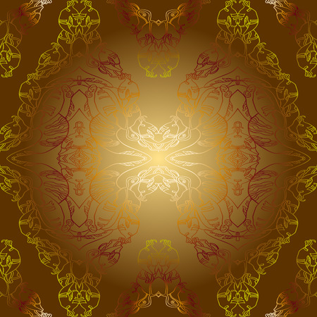 brown background: wallpaper with sepia golden vintage background pattern