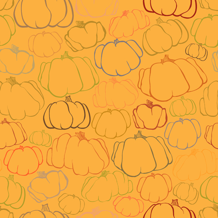 amber: Pumpkin seamless orange and amber vector pattern background