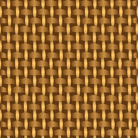 basket weaving: Abstract decorative wooden striped textured basket weaving background. Seamless pattern. Wicker pattern, Basket weave pattern, Seamless pattern background texture of intertwined ribbons. Vector. Illustration