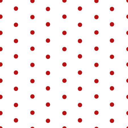 lunares rojos: Lunar de fondo de fisuras. lunares rojos sobre fondo blanco. diseño de moda retro simple. Ilustración del vector.