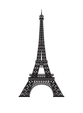 Torre Eiffel isolato su sfondo bianco.