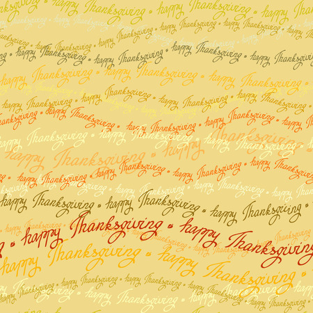 good wishes: Happy Thanksgiving day horizontal seamless pattern with happy thanksgiving text lines. Good wishes for grateful cards. Illustration