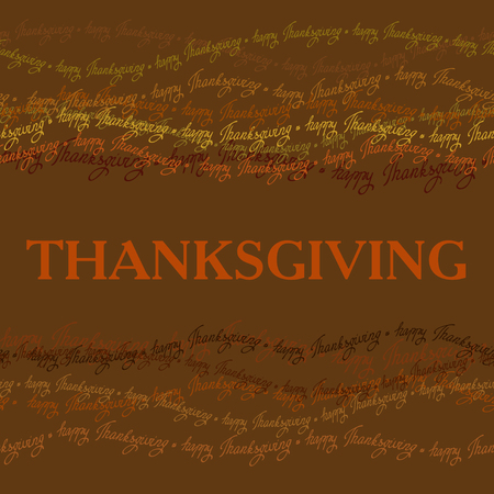 good wishes: Happy Thanksgiving day horizontal frame with happy thanksgiving text line seamless border. Good wishes for grateful cards.