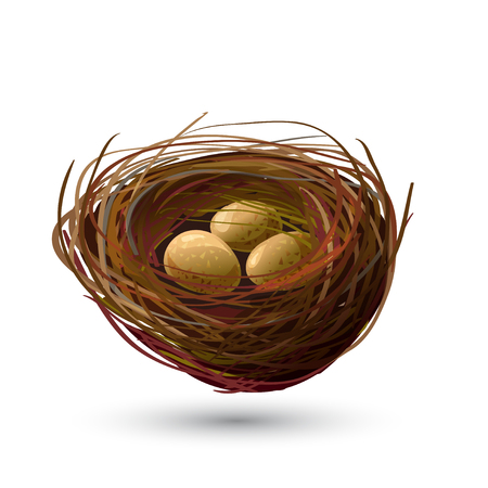 Bird Nest and golden Eggs