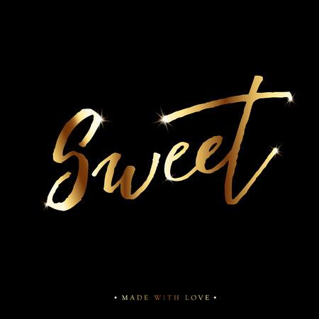 Sweet love calligraphy valentines day romantic greeting card valentines day romantic greeting card handwritten modern brush lover lettering m4hsunfo