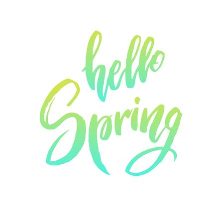 Hello spring quote. Illustration