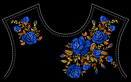 Fashion floral embroidery.