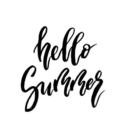 Hello Summer brush lettering.