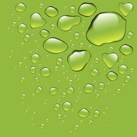 Realistic water drops isolated Stock Photo