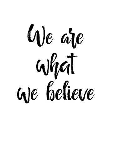 We Are What We Believe calligraphy card