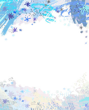 Winter banner background with blue snowflake design. Empty place for cards, invitations, templates for sale.