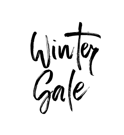 Winter shopping sale lettering.