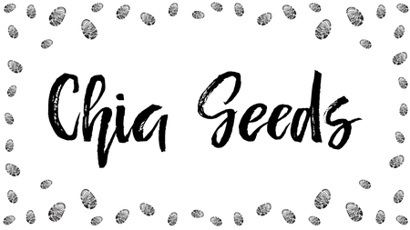 Chia seeds vector background