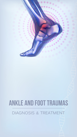 Ankle and foot traumas banner
