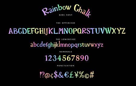 Handwritten display font vector alphabet set