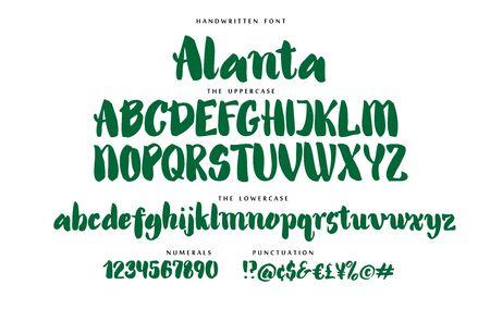 Hand drawn font vector alphabet set