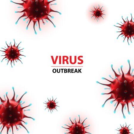 Coronavirus epidemia vector outbreak human virus illustration