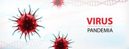 Coronavirus epidemia vector common human virus illustration Ilustração