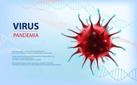 Coronavirus epidemia vector human virus horizontal illustration