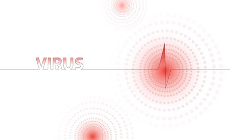 Coronavirus epidemia vector light red human virus illustration Imagens - 143340256