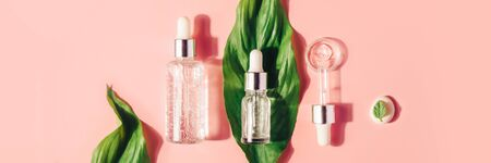 Natural Serums. Concept of cosmetic injection is hyaluronic acid, botulin, serum. Reklamní fotografie - 124787595