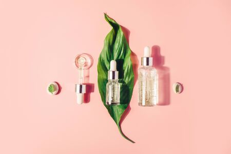 Natural Serums. Concept of cosmetic injection is hyaluronic acid, botulin, serum. Reklamní fotografie - 124787599