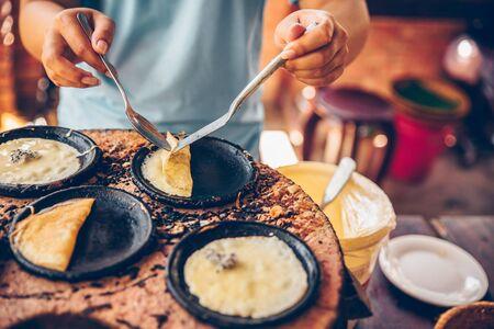 Vietnamese small rice pancake - Traditional Vietnamese food Cooking class