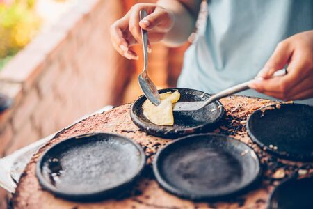 Vietnamese small rice pancake - Traditional food at the middle of Vietnam Reklamní fotografie