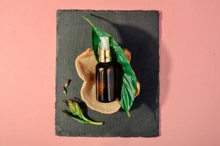 Cosmetic concept. Skin beauty health care concept. Bio organic serum product