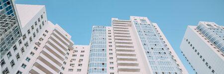New luxury residential complex. Texture, background. Banner Reklamní fotografie
