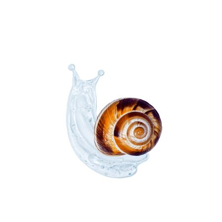 Creative image of cosmetics with snail mucus. Art Concept of Natural Respectful Facial and Body Care with Snail Slime