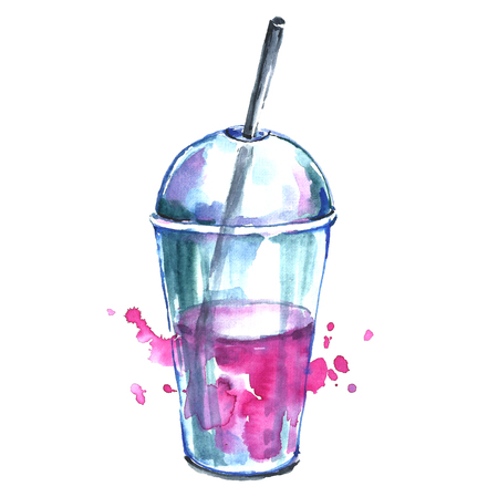 Watercolor cocktail.