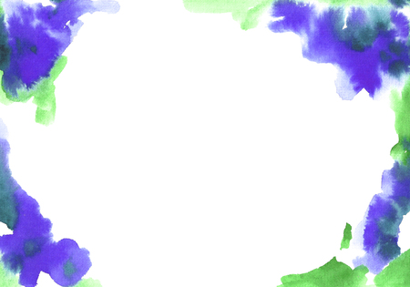 Watercolor flower frame.