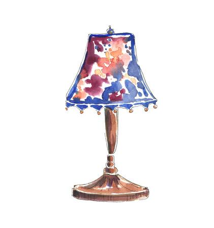 Watercolor floor lamp. Фото со стока