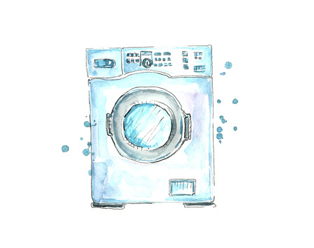 Watercolor washing machine.